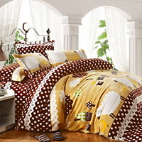 Happy Farm Winter Duvet Cover Set Flannel Bedding