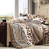 Happy Season Winter Duvet Cover Set Flannel Bedding