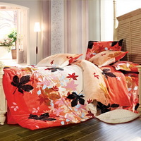 Milans Maple Leaf Winter Duvet Cover Set Flannel Bedding