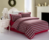 Happiness Style Red Tartan Bedding Stripes And Plaids Bedding Luxury Bedding