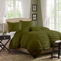 Yekarina Army Green Duvet Cover Sets