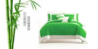 Bamboo Green Duvet Cover Set Luxury Bedding
