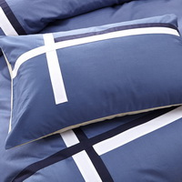 Elegance Blue Modern Bedding College Dorm Bedding