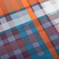 Fancy Cube Orange Tartan Beddding Stripes And Plaids Bedding