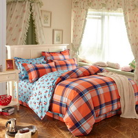 Affection Light Blue Cotton Bedding 2014 Duvet Cover Set