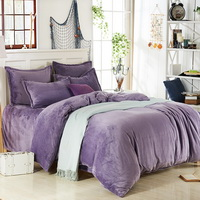 Lilac Flannel Bedding Winter Bedding