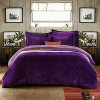 Purple And Lilac Flannel Bedding Winter Bedding