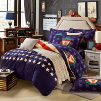 American Style Blue Teen Bedding College Dorm Bedding Kids Bedding