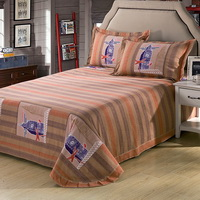English Style Blue Teen Bedding College Dorm Bedding Kids Bedding