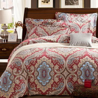 Exotic Style Beige Duvet Cover Set European Bedding Casual Bedding