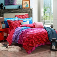Louvre Fashion Red Duvet Cover Set European Bedding Casual Bedding