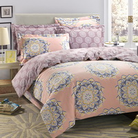 Paris In The Spring Pink Duvet Cover Set European Bedding Casual Bedding