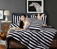 Black And White Space Balck Bedding Set Winter Bedding Flannel Bedding Teen Bedding Kids Bedding