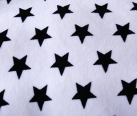 Bright Stars White Bedding Set Winter Bedding Flannel Bedding Teen Bedding Kids Bedding
