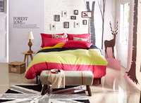 Autumn Fairy Tale Red Velvet Bedding Modern Bedding Winter Bedding