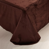 Macchiato Coffee Velvet Bedding Modern Bedding Winter Bedding