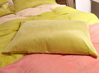 Pure Love Yellow Green Velvet Bedding Modern Bedding Winter Bedding