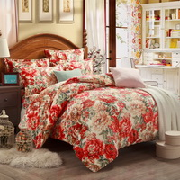 Aestheticism Beige Flowers Bedding Flannel Bedding Girls Bedding