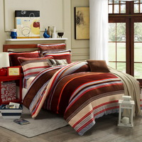 Stripes Coffee Style Bedding Flannel Bedding Girls Bedding