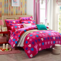 True Love Rose Style Bedding Flannel Bedding Girls Bedding