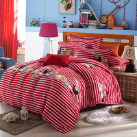 Afo Red Bedding Modern Bedding Cotton Bedding Gift Idea