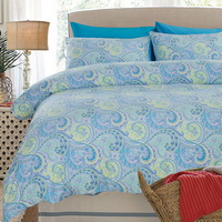 Griffith Blue Egyptian Cotton Bedding Luxury Bedding Duvet Cover Set