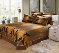 Gift Ideas Dolphins Brown Bedding Sets Teen Bedding Dorm Bedding Duvet Cover Sets 3D Bedding Animal Print Bedding