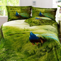 Gift Ideas Peacock Green Bedding Sets Teen Bedding Dorm Bedding Duvet Cover Sets 3D Bedding Animal Print Bedding