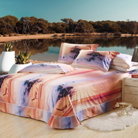 Fairyland Orange Bedding Sets Duvet Cover Sets Teen Bedding Dorm Bedding 3D Bedding Landscape Bedding Gift Ideas