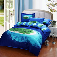 Island Blue Bedding Sets Duvet Cover Sets Teen Bedding Dorm Bedding 3D Bedding Landscape Bedding Gift Ideas