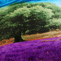 Lavender Fields Purple Bedding Sets Duvet Cover Sets Teen Bedding Dorm Bedding 3D Bedding Landscape Bedding Gift Ideas