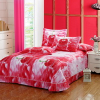 Cherries Red Bedding Sets Duvet Cover Sets Teen Bedding Dorm Bedding 3D Bedding Floral Bedding Gift Ideas