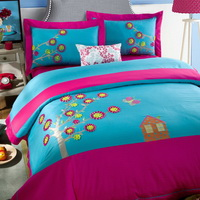 Colorful Life Blue Bedding Girls Bedding Teen Bedding Luxury Bedding