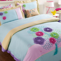 Flower Tree Cyan Bedding Girls Bedding Teen Bedding Luxury Bedding