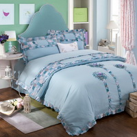 Sunflower Blue Bedding Girls Bedding Teen Bedding Luxury Bedding