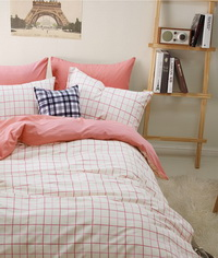 Gingham Stripes And Plaids Pink Bedding Girls Bedding Teen Bedding Kids Bedding