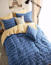 Polka Dots Stars Blue Bedding Girls Bedding Teen Bedding Kids Bedding