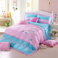 Flower Story Blue Bedding Girls Bedding Princess Bedding Teen Bedding