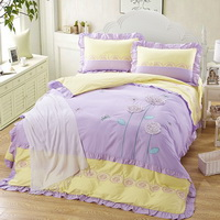 Flower Story Yellow Bedding Girls Bedding Princess Bedding Teen Bedding