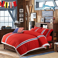 British Fashion Red Bedding Dorm Bedding Discount Bedding Modern Bedding Gift Idea