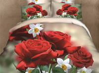 Charming Flowers Red Bedding Rose Bedding Floral Bedding Flowers Bedding