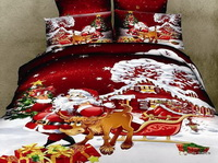 Santa Claus Christmas Gift Red Bedding Christmas Bedding Holiday Bedding
