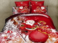 Santa Claus Christmas Party Red Bedding Christmas Bedding Holiday Bedding