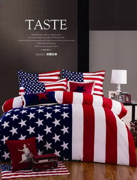 The Stars And The Stripes Blue Bedding Christmas Bedding Holiday Bedding