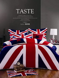 The Union Jack Blue Bedding Christmas Bedding Holiday Bedding