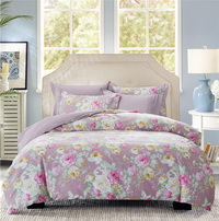 Bouquet Purple Bedding Set Teen Bedding Dorm Bedding Bedding Collection Gift Idea
