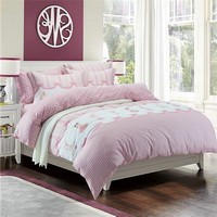 Bunny Pink Bedding Set Teen Bedding Dorm Bedding Bedding Collection Gift Idea