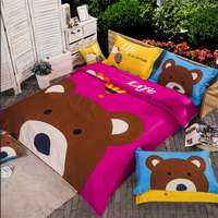 Bear Red Bedding Set Kids Bedding Duvet Cover Set Gift Idea
