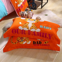 The Cheetah Family Orange Bedding Set Kids Bedding Duvet Cover Set Gift Idea