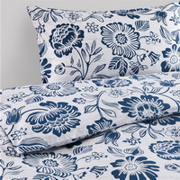 Ansuote Blue Bedding Set Luxury Bedding Scandinavian Design Duvet Cover Pillow Sham Flat Sheet Gift Idea
